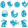 easter symbols — Stock Vector