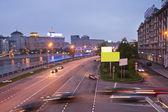 夜交通 — 图库照片