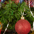 Decorated christmas-tree — Stock Photo