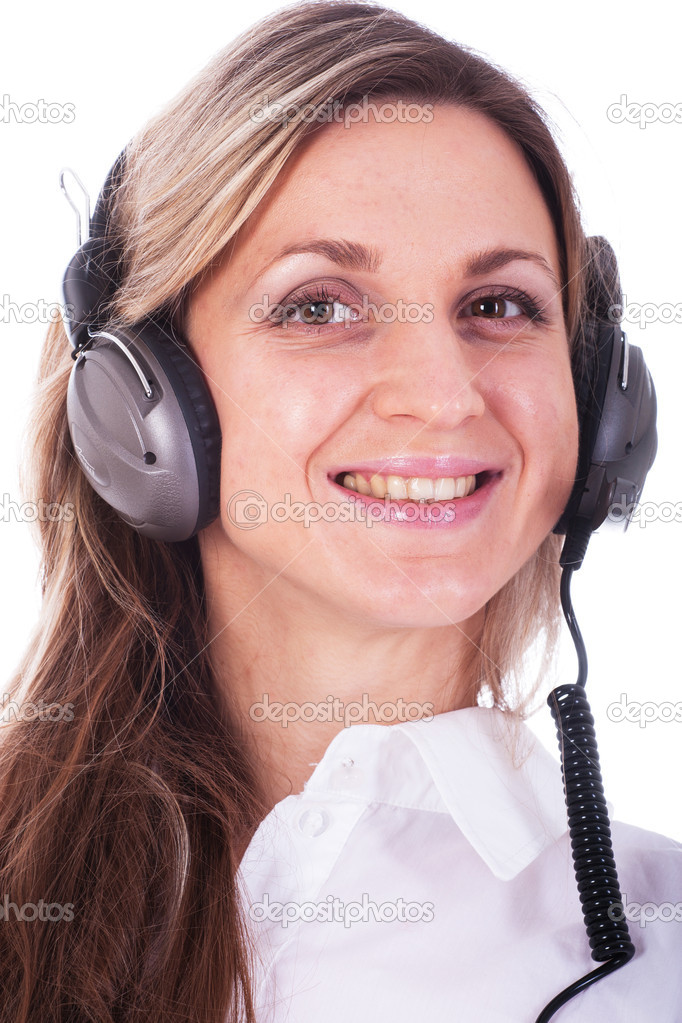 The image of girl with earphones — Stock Photo #8774862