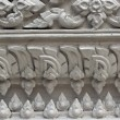 White stucco , thai style on the Wall — Stock Photo