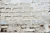 White textured brick wall painted — 图库照片