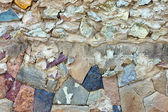 Pattern of old stone Wall Surfaced — Photo