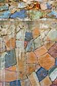 Colored Pattern of old stone Wall Surfaced — Stock Photo