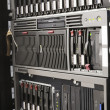 Rack mounted servers - Stock Photo