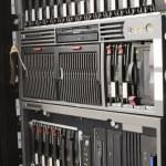 Rack mounted servers — Stock Photo