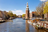 City landscape of Amsterdam, Netherlands — Stock Photo