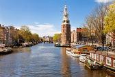 City landscape of Amsterdam, Netherlands — Stock Photo