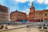 Piazza Maggiore, Bologna, Italy — Stock Photo