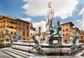 The fountain of Neptune, Florence, Italy — Stock Photo