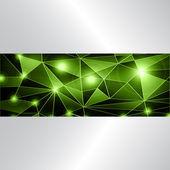 Şık arka planı yeşil — Stok Vektör