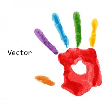 Colourful handprint paint