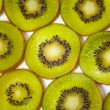 Stock Photo: Pattern made of kiwi slices