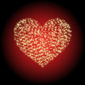 Heart of the stars — Stock Vector