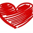 Red heart - Foto Stock
