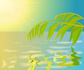 Paesaggio con acqua, eps.8 illustrazione del file. — Vettoriale Stock