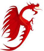 Heraldry, red dragon. — Vettoriale Stock