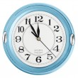 Stock fotografie: Blue wall clock