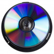 Compact disc stack — Stock Photo