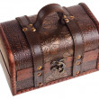 Stock Photo: Close wooden chest