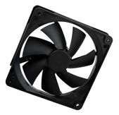 Computer case cooling fan — 图库照片