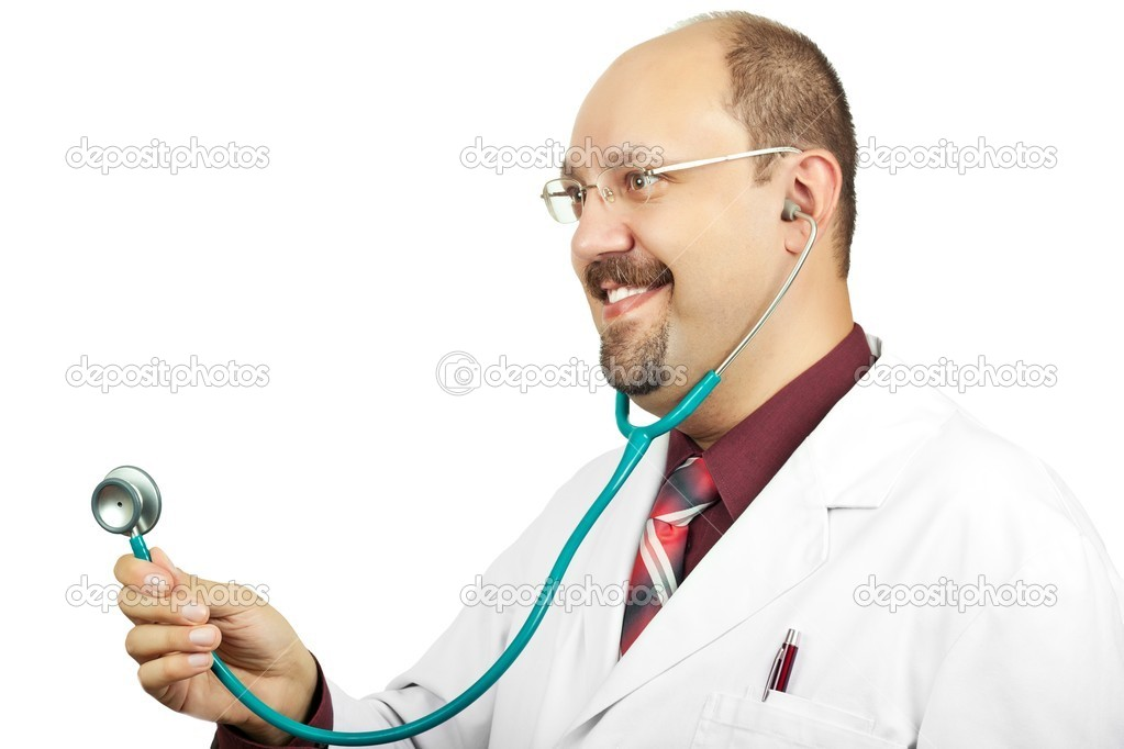 Doctor ready to help over a white background — Stock Photo #10476988