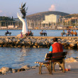 In the Harbor of Kusadasi at Sunset — Foto Stock