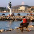 In the Harbor of Kusadasi at Sunset — 图库照片