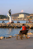 In the Harbor of Kusadasi at Sunset — Stock Photo