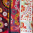 Multicolored Fabrics in the Market - Stock Photo