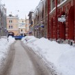 Stock Photo: Street Under Snow in Saint-Petersburg