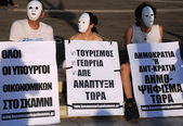 Protesting in Athens — Stock Photo