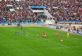 Celebratuing un gol calcio — Foto Stock