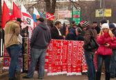 Spartak voetbal team fan winkel — Stockfoto