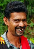 Retrato de vendedor callejero — Foto de Stock