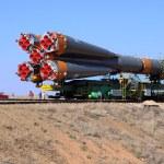 Russian Progress Spacecraft — Stock Photo