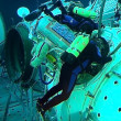 Michael Barratt is training for spacewalks in the Russian Hydrol — Foto de Stock