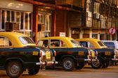 Parada de taxis en la india — Foto de Stock