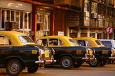 Taxi-stand in India — Stock Photo