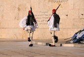 Guard at the Parliament in Athens — Stock Photo