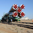 Stock Photo: Soyuz Launch Vehicle Rollout