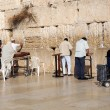 At the Wailing Wall in Jerusalem - Stock Photo