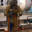 Постер, плакат: Russian made Orlan Space Suit for Spacewalks