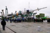 Soyuz Spacecraft at Launch Pad — Stock Photo