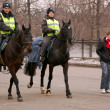 Stock Photo: Mounted Police in Moscow
