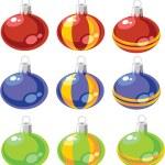 Balls set color 02 — Stock Vector