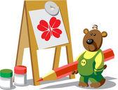 Bear color 12 — Stock Vector