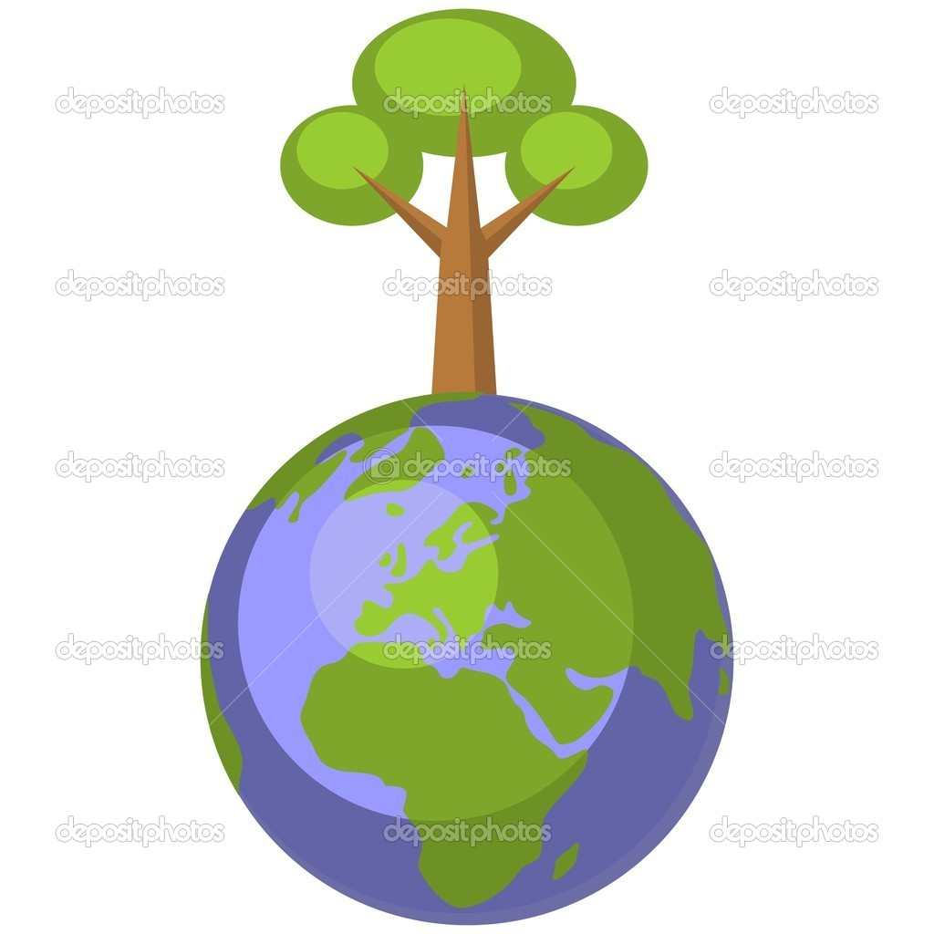 Vector. Earth globe set 004 — Stock Vector #8608170
