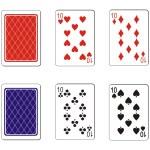 Playing card set — Stock Vector