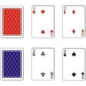 Zestaw kart do gry 05 — Wektor stockowy